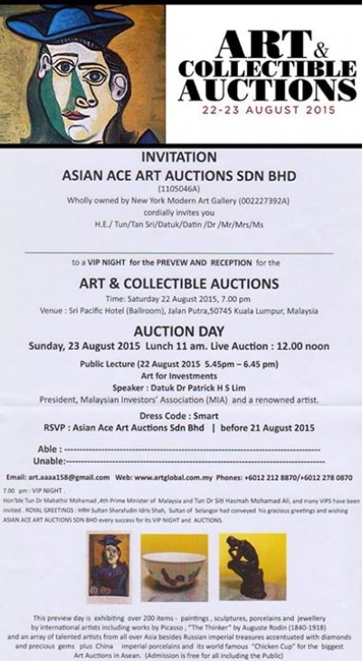ASIAN ACE ART AUCTIONS